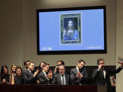 La tabla fue adjudicada en una vertiginosa puja por 382,1 millones de euros, un precio que duplica el récord previo de Pablo Picasso