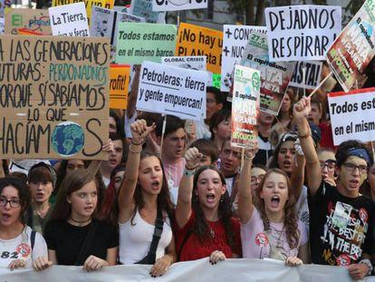 Manifestración por el clima en Madrid. / JAIME VILLANUEVA