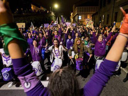 Manifestación del 8-M en Santiago de Compostela.