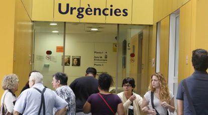 Servicio de Urgencias del hospital Parc Taulí (Barcelona) en septiembre.