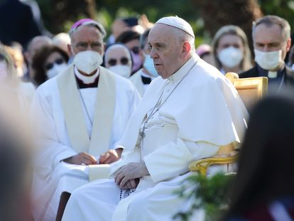 El papa Francisco, el pasado martes en los jardines del Vaticano.