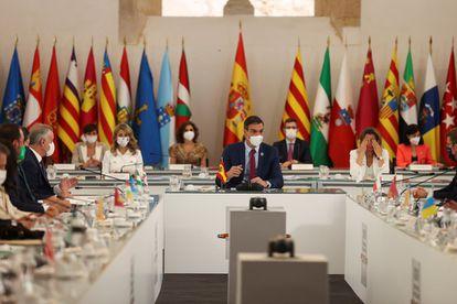 El presidente del Gobierno, Pedro Sánchez durante la Conferencia de Presidentes celebrada en Salamanca en julio.