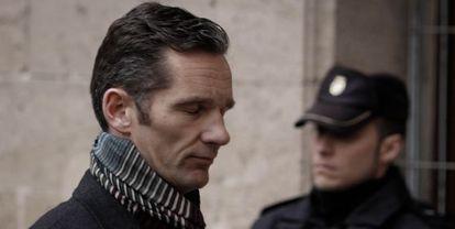Iñaki Urdangarin llega a los juzgados de Palma para declarar ante el juez José Castro.
