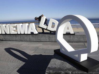 Preparativos del Festival de Cine de San Sebastián en su última edición.
