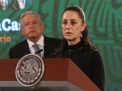 Andrés Manuel López Obrador, presidente de México, y Claudia Sheinbaum, jefa de Gobierno de la capital, el pasado mes de mayo.