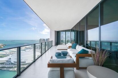 Vistas desde los apartamentos de One Thousand, en Miami