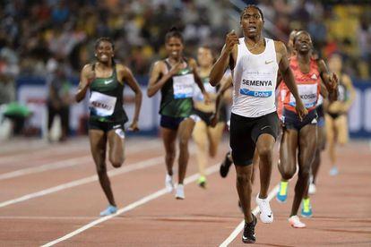Semenya, el 4 de mayo, ganando los 1.500m de la Diamond League.