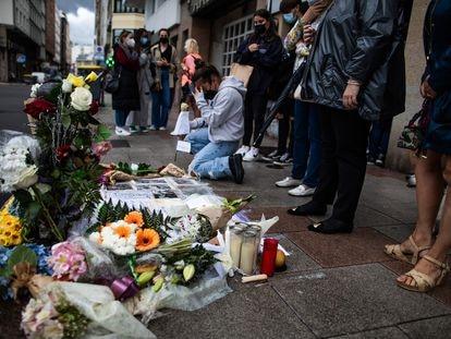 Concentración en A Coruña en repulsa por el asesinato de Samuel Luiz.