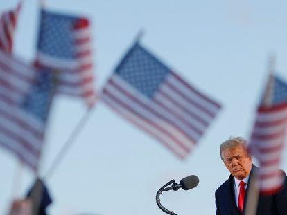 Donald Trump en su último discurso como presidente de Estados Unidos antes de viajar a Florida.