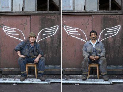 Fotografías de la serie sobre los mineros serbios realizada por Igor Grubic que se expone en la Manifesta.