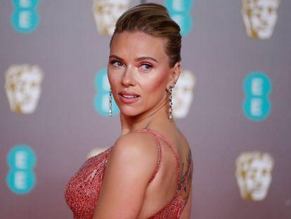 Scarlett Johansson, en Londres, el pasado domingo.