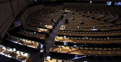 El Parlamento Europeo, durante la sesión de debate del plan de recuperación.