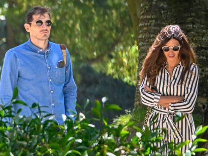 Iker Casillas y Sara Carbonero, en Oporto.