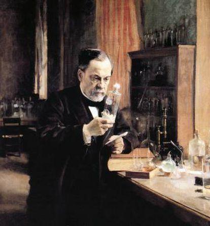 Retrato de Alfred Nobel en su laboratorio.