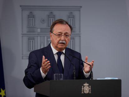 El presidente de Ceuta, Juan Jesús Vivas, este miércoles, en La Moncloa.