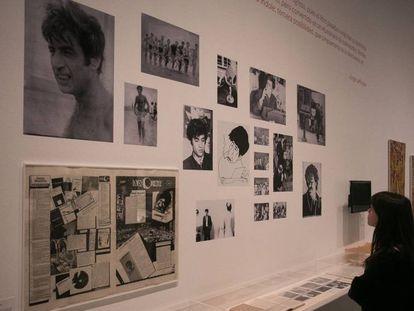 Algunos de los retratos de Oscar Masotta en la exposición que le dedica el Macba de Barcelona.