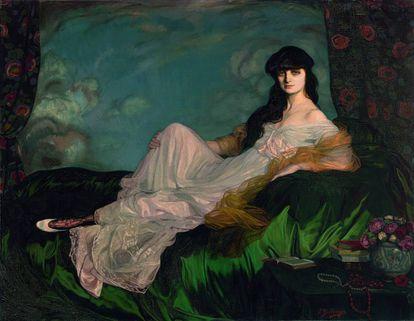 'Retrato de la condesa Mathieu de Noailles', de Ignacio Zuloaga.