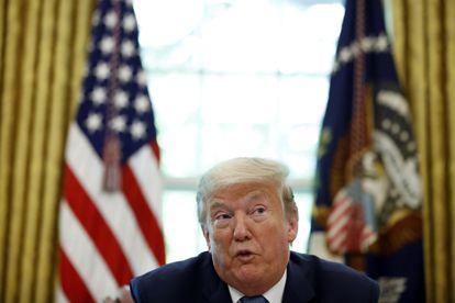 El presidente de EE UU, Donald Trump, durante una presentación este viernes desde la Casa Blanca.