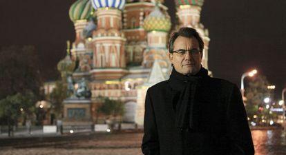 El presidente catalán, Artur Mas, durante un viaje a Rusia en octubre del año pasado.