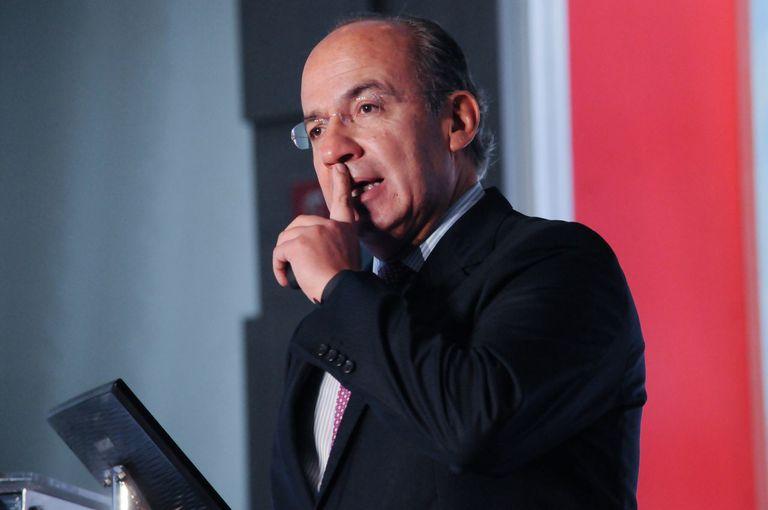 El expresidente mexicano Felipe Calderón, en una conferencia de 2017.