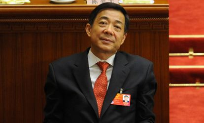 Bo Xilai durante el Congreso del PCCh.