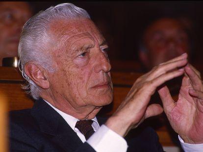 El empresario italiano Gianni Agnelli en una imagen de 1990.