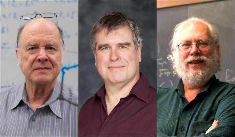 Charles Bennett, Gilles Brassard y Peter Shor, los tres galardonados por los Premios Frontera del Conocimiento.