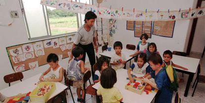 Una escuela en Mato Grosso (Brasil).