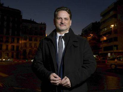 Pierre Krähenbühl, este lunes en Madrid antes de la entrevista.