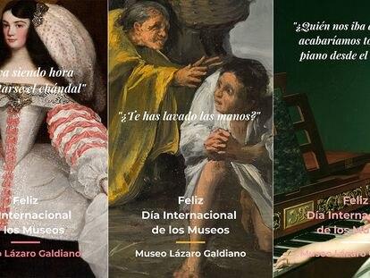 Tres Imágenes (des)confinadas del Museo Lázaro Galdiano.