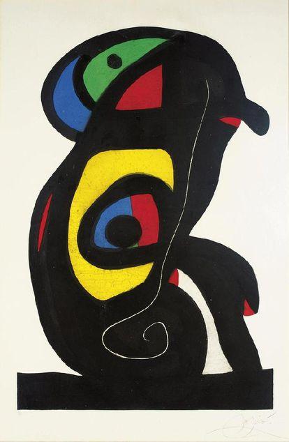 'El bramán' de Joan Miró, de 1978. / ENCICLOPEDIA CATALANA