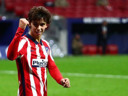 Joao Félix celebra un gol del Atlético de Madrid.