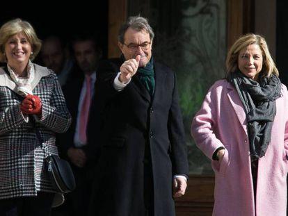 Irene Rigau, Artur Mas y Joana Ortega.