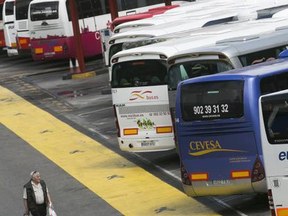 Estación Sur de Madrid, una terminal de autobuses interregionales y de largo recorrido.