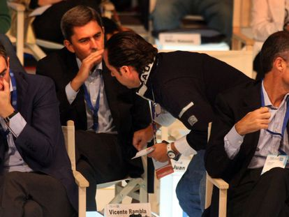 Desde la izquierda, Ricardo Costa, Vicente Rambla, Álvaro Pérez ('El Bigotes') y Francisco Camps.