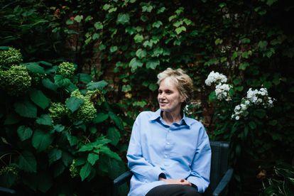 Siri Hustvedt en su casa de Nueva York en 2019.