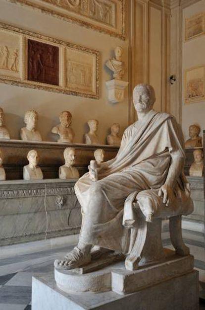Vista de la Sala de los Filósofos de los Museos Capitolinos de Roma.
