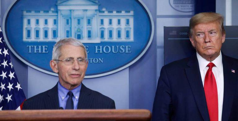 El doctor Anthony Fauci, junto al presidente Donald Trump, en una imagen de archivo.