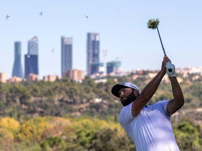 Rahm, durante el Open de España este viernes.