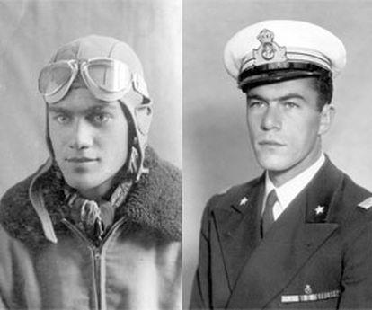 Los hermanos Visintini, el aviador, Mario, y el buzo, Licio, ambos muertos en la II Guerra Mundial.