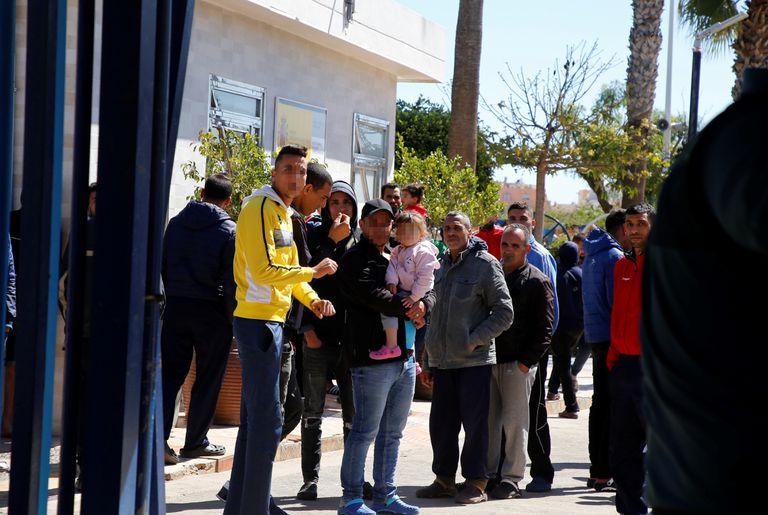 Entrada del Centro de Estancia Temporal de Inmigrantes (CETI) de Melilla, en una imagen de este miércoles.
