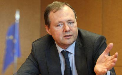 El responsable del departamento digital de la Comisión Europea, Roberto Viola, durante la entrevista.