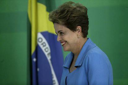 Rousseff, en su rueda de prensa este lunes en Brasilia.