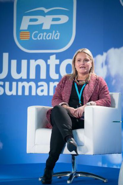 María del Mar Blanco, en la convención catalana.