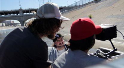 El cantante de Rap Sho Hai, durante la grabación de un videoclip en Los Ángeles