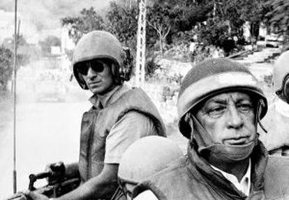 Ariel Sharon, en Líbano durante la invasión de 1982.