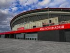 Estadio Wanda Metropolitano during ninenth day after the Government declared the state of alarm in Spain and recommended people to stay at home to fight coronavirus COVID-19 on March29, 2020 in Madrid, Spain