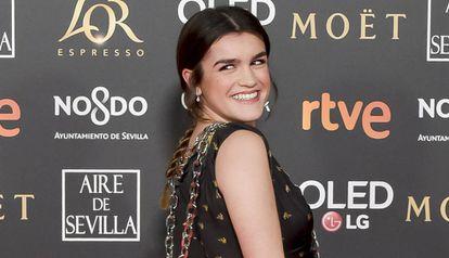 Amaia Romero a su llegada a la gala de los Goya, el 2 de febrero de 2019 en Sevilla.