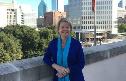 Keven Ann Milley, en la terraza del Dallas Morning News en Dallas, Texas.