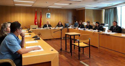 Un juicio con jurado popular en octubre de 2019 en la Audiencia Provincial de Madrid.